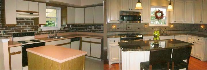 Before and After Image of Kitchen