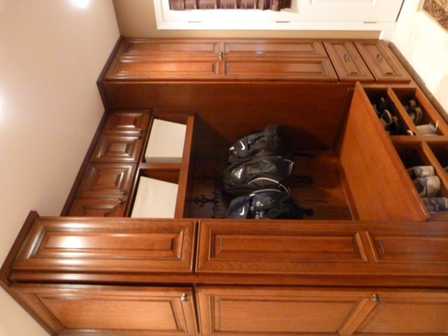 Much went into the mudroom with our built-in storage for coats, gloves, books. It's a great place to sit and change shoes with storage underneath. Richboro, Churchville, Southampton area.